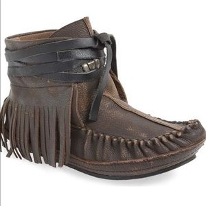 Shoes - Brand new, never worn.  Raw-cut Leather Moccasins